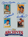 Baseball Collectibles:Photos, Mantle, Musial, Aaron and Robinson Multi Signed Print....