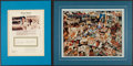 Baseball Collectibles:Others, Mickey Mantle Signed Displays Lot of 2....