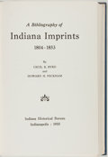 Books:Reference & Bibliography, Cecil K. Byrd and Howard H. Peckham. A Bibliography of IndianaImprints 1804-1853. Indianapolis: Indiana Historical ...
