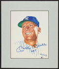 "Baseball Collectibles:Others, Mickey Mantle ""No. 7"" Signed Ron Lewis Print...."