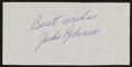 Baseball Collectibles:Others, Jackie Robinson Signed Cut Signature....
