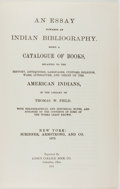 Books:Reference & Bibliography, Thomas W. Field. An Essay Towards an Indian Bibliography.Columbus: Long's College Book, 1951. Facsimile edition...