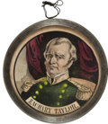 Political:3D & Other Display (pre-1896), Zachary Taylor: Pewter-Rim Mirror....