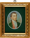 Political:3D & Other Display (pre-1896), James Monroe: Miniature on Ivory....