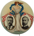 Political:Pinback Buttons (1896-present), Roosevelt & Fairbanks: Miss Liberty Jugate....