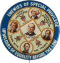 Political:Pinback Buttons (1896-present), William Jennings Bryan: Down with the Trusts. . ...