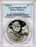 Modern Issues: , 1999-P $1 Dolley Madison Silver Dollar PR68 Deep Cameo PCGS. PCGSPopulation (106/2527). NGC Census: (23/2265). Numismedia...