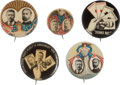 Political:Pinback Buttons (1896-present), Roosevelt & Fairbanks: Jugates and Stand Pat Button....