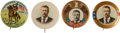 "Political:Pinback Buttons (1896-present), Theodore Roosevelt: Quartette of Colorful 1 1/4"" Buttons....(Total: 4 Items)"
