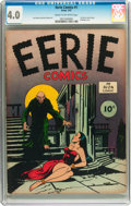 Golden Age (1938-1955):Horror, Eerie Comics #1 (Avon, 1947) CGC VG 4.0 Cream to off-whitepages....