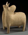 Asian:Other, AMLASH POTTERY HUMP-BACKED TEMPLE BULL VESSEL . 14-1/2 inches high(36.8 cm), circa 1st century BCE. Vessels of this type ...