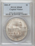 Modern Issues: , 2001-P $1 Capitol Visitor's Center Silver Dollar MS68 PCGS. PCGSPopulation (45/1508). NGC Census: (18/1629). Numismedia W...