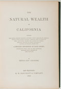 Books:Americana & American History, Titus Fey Cronise. The Natural Wealth of California. SanFrancisco: H. H. Bancroft & Company, 1868. First editio...