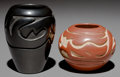 American Indian Art:Pottery, TWO SANTA CLARA CARVED JARS. Stella Chavarria... (Total: 2 Items)