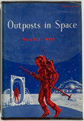 Books:Science Fiction & Fantasy, [Jerry Weist]. Wallace West. Outposts in Space. New York: Avalon, [1962]. First edition, first printing. Octavo. 224...