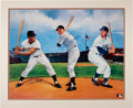 Autographs:Others, 1980's Mantle, Mays & Snider Signed Artwork....