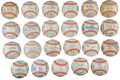 Autographs:Baseballs, 1961-83 Chicago White Sox Team Signed Baseballs Lot of 23.... (Total: 1974 item)