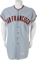 Baseball Collectibles:Uniforms, 1971 Willie McCovey Game Worn San Francisco Giants Jersey....