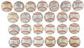Autographs:Baseballs, 1958, 1960-83 New York Yankees Team Signed Baseballs Lot of 25....