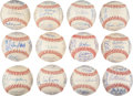 Autographs:Baseballs, 1969 American League Team Signed Baseballs Lot of 12....