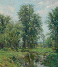 American, HUGH BOLTON JONES (American, 1848-1927). Springtime in Old Lyme,Connecticut. Oil on canvas . 35-3/4 x 30 inches (90.8 x...