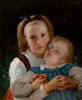 Fine Art - Painting, European, LEON JEAN BASILE PERRAULT (French, 1832-1908). L' amourFraternel. Oil on canvas. 22 x 18 inches (55.9 x 45.7 cm).Signe...