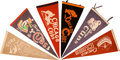 Baseball Collectibles:Others, 1930's-60's Vintage Chicago Cubs Pennants Lot of 12....
