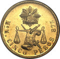 Mexico, Mexico: Republic gold 5 Pesos 1903 MoM,...