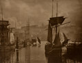 Prints, FRANK MEADOW SUTCLIFFE (British, 1853-1941). View of Whitby Harbour, circa 1880-89. Carbon print . 9-3/4 x 11-1/4 inches...