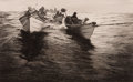 Prints, B. BURROUGHS (American, 20th Century). Tow Boats. Etching. Image: 5 x 8 inches (12.7 x 20.3 cm). Sheet: 12-1/4 x 14 inch...