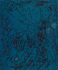Prints, STANLEY WILLIAM HAYTER (British, 1901-1988). Night Forest (Feuilles Éparsés), 1963. Color etching and aquatint. Imag...