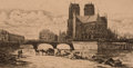 Fine Art - Work on Paper:Print, CHARLES MERYON (French, 1821-1868). L'Abside de Notre Dame deParis, 1854. Etching and engraving. 12-1/4 x 18-1/2 inches...