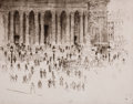 Fine Art - Work on Paper:Print, WILLIAM WALCOT (British, 1874-1943). Museum Scene. Drypoint etching . Image: 8-1/2 x 10-3/4 inches (21.6 x 27.3 cm) . Sh...
