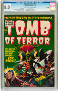 Golden Age (1938-1955):Horror, Tomb of Terror #14 File Copy (Harvey, 1954) CGC VF 8.0 Light tan tooff-white pages....