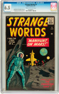 Golden Age (1938-1955):Science Fiction, Strange Worlds #4 (Marvel, 1959) CGC FN+ 6.5 Cream to off-whitepages....