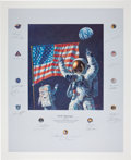 "Transportation:Space Exploration, Alan Bean Large Color Limited Edition ""In the Beginning..."" Lithograph Signed by Twenty Apollo Astronauts Directly from the Pe..."