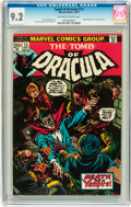 Bronze Age (1970-1979):Horror, Tomb of Dracula #13 (Marvel, 1973) CGC NM- 9.2 Off-white to whitepages....