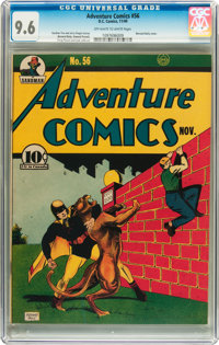 Adventure Comics #56 (DC, 1940) CGC NM+ 9.6 Off-white to white pages