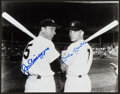 Baseball Collectibles:Photos, Mickey Mantle and Joe DiMaggio Multi Signed Photograph....