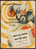 Football Collectibles:Programs, 1961 NFL Championship Green Bay Packers vs. New York Giants Program - Vince Lombardi's First Championship Victory! ...