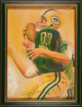 Football Collectibles:Others, 1960's Green Bay Packers David Boss Hand Embellished Artwork....