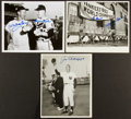 Baseball Collectibles:Photos, Baseball Legends Signed Photographs Lot of 3....