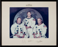 Transportation:Space Exploration, Apollo 11 Large Color Photo Crew-Signed on Mat Originally from the Personal Collection of North American Aviation President Wi...