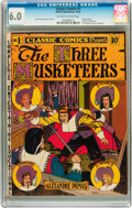 Golden Age (1938-1955):Classics Illustrated, Classic Comics #1 The Three Musketeers (Gilberton, 1941) CGC FN 6.0Off-white to white pages....