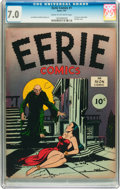 Golden Age (1938-1955):Horror, Eerie #1 (Avon, 1947) CGC FN/VF 7.0 Cream to off-white pages....