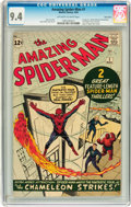 Silver Age (1956-1969):Superhero, The Amazing Spider-Man #1 Twin Cities pedigree (Marvel, 1963) CGC NM 9.4 Off-white to white pages....