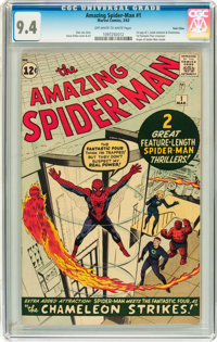 The Amazing Spider-Man #1 Twin Cities pedigree (Marvel, 1963) CGC NM 9.4 Off-white to white pages