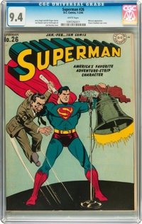 Superman #26 (DC, 1944) CGC NM 9.4 White pages