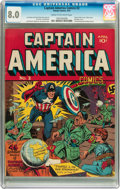 Golden Age (1938-1955):Superhero, Captain America Comics #2 (Timely, 1941) CGC VF 8.0 Cream tooff-white pages....