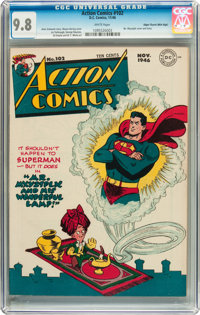 Action Comics #102 Mile High pedigree (DC, 1946) CGC NM/MT 9.8 White pages